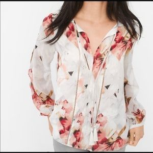 ✨FINAL PRICE✨NWOT WHBM Long Sleeve, Floral Shirt
